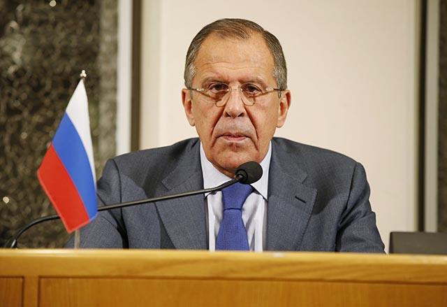 Na snímke ruský minister zahraničných vecí Sergej Lavrov.