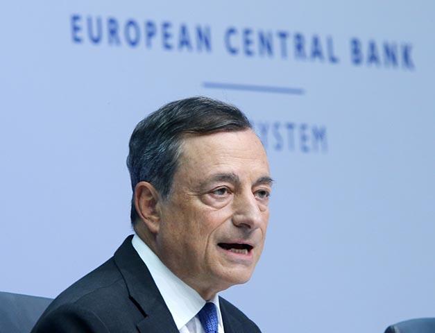 Na snímke prezident Európskej centrálnej banky (ECB) Mario Draghi.