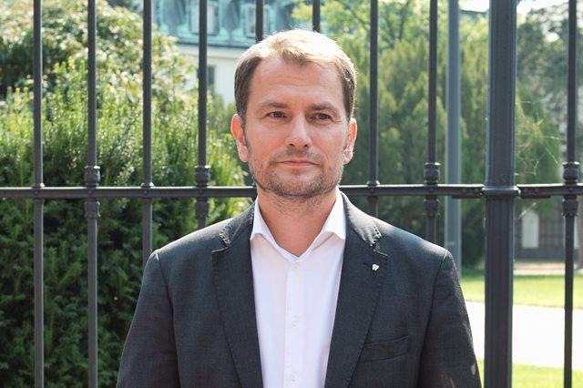 Na snímke predseda hnutia Obyčajní ľudia a nezávislé osobnosti Igor Matovič