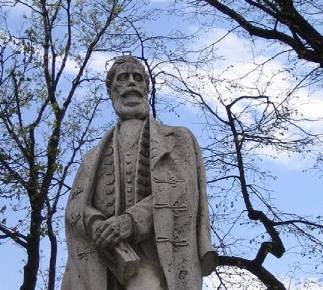 Na snímke socha Ľudovíta Štúra na okraji parku na námestí v Levoči, ktorá bola svojho času jedno z centier  štúrovského hnutia