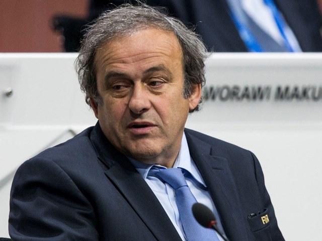 Na snímke viceprezident FIFA Michel Platini