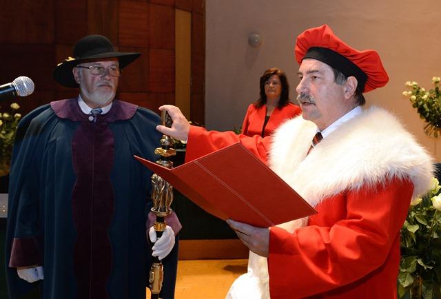 Na snímke inaugurácia rektora Univerzity Pavla Jozefa Šafárika v Košiciach Pavla Sováka