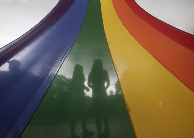 Ilustračné foto dúhových farieb LGBTI