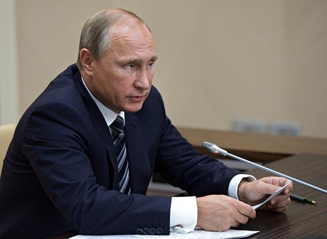 Na snímke ruský prezident Vladimir Putin.