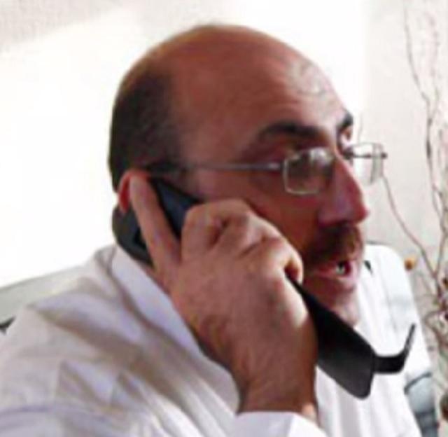 Na snímke Rami Abdul Rahman, vedúci organizácie SOHR