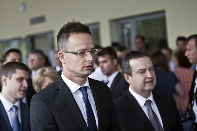Na snímke maďarský minister zahraničných vecí a vonkajších ekonomických vzťahov Péter Szijjártó.