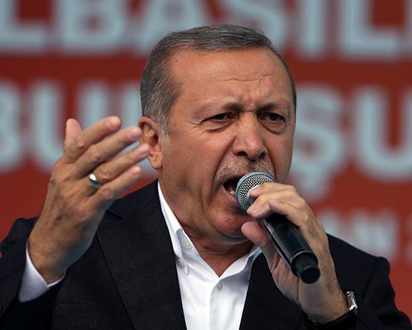Na snímke turecký prezident Recep Tayyip Erdogan.