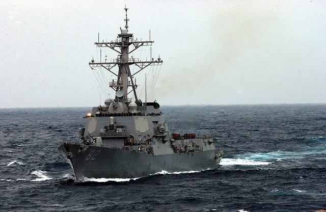 Na snímke americká vojnová loď USS Lassen