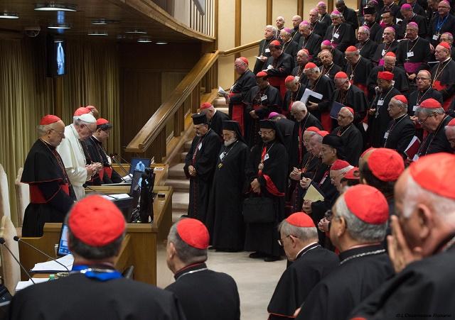 Snímka z konania Synody vo vatikáne