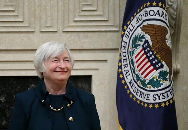 Na snímke guvernérka Federálneho rezervného systému (FED) Janet Yellenová.