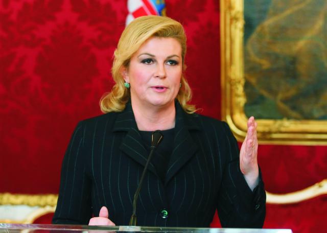 Chorvátska prezidentka Kolinda Grabarová-Kitarovičová