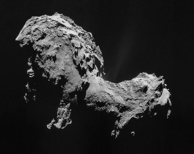 Na snímke kométa 67P / Čurjumov-Gerasimenko