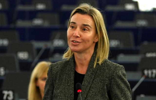 Na snímke šéfka európskej diplomacie Federica Mogheriniová