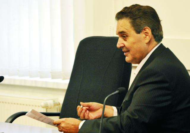 Na snímke jeden z trojice obžalovaných v kauze tunelovania nebankoviek BMG Invest a Horizont Slovakia Jozef M.