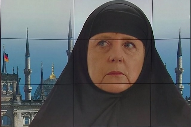 Takto ukázala televízia ARD nemeckú kancelárku