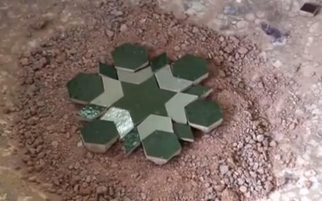 Ukážka ručne vyrobeného kúska mozaiky