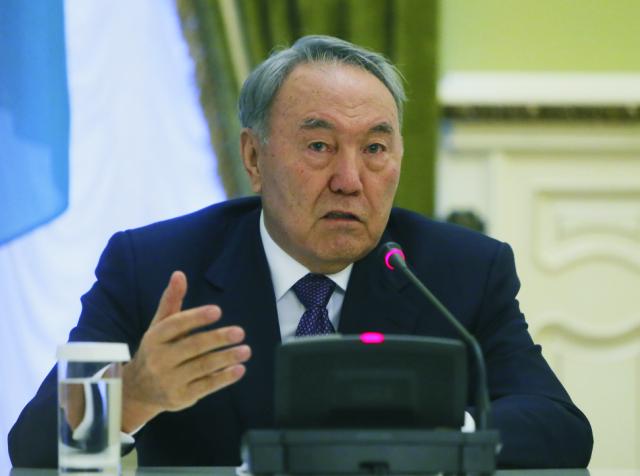Na snímke kazašský prezident Nursultan Nazarbajev