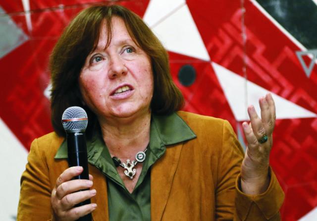 Na snímke Svetlana Alexijevičová