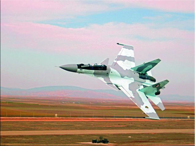 Na snímke stíhačka Su-30
