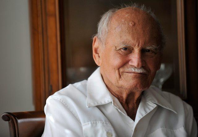 Na snímke bývalý maďarský prezident a spisovateľ Árpád Göncz