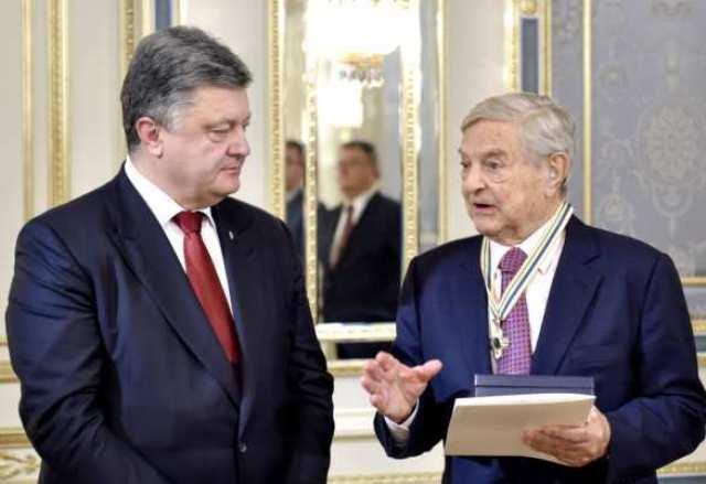 Ukrajinský prezident Petro Porošenko udelil Rad Slobody Georgovi Sorosovi
