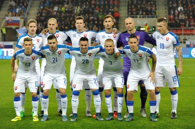 Na snímke slovenská reprezentačná jedenástka