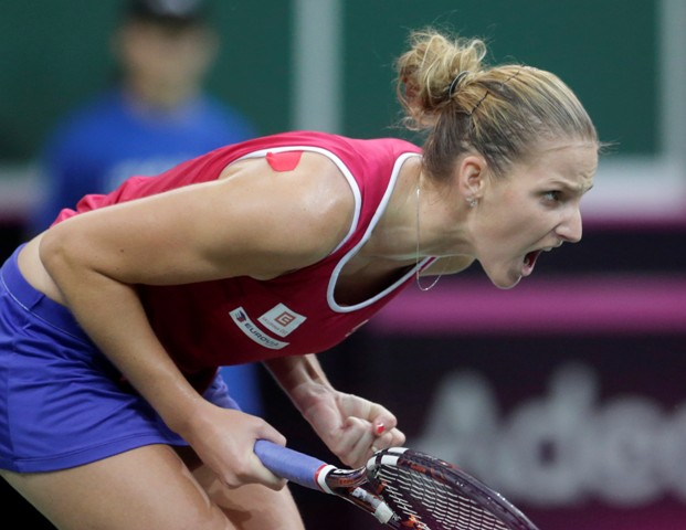 Na snímke česká tenistka Karolína Plíšková