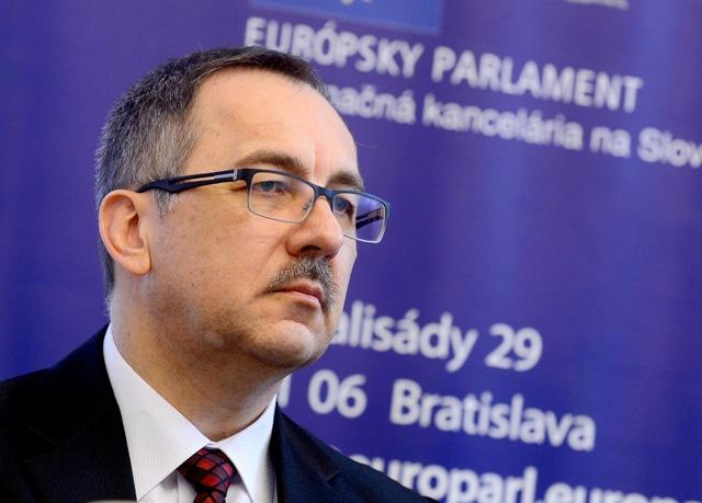 Na snímke poslanec Európskeho parlamentu Vladimír Maňka