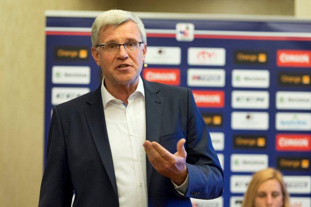 Na snímke viceprezident Slovenského zväzu ľadového hokeja (SZĽH) Dušan Mráz