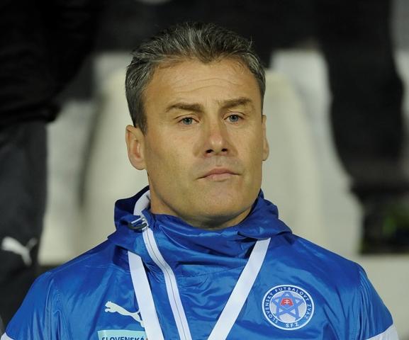 Na snímke tréner slovenskej reprezentácie do 21 rokov Pavel Hapal