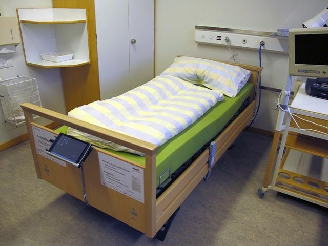 Na snímke prototyp inteligentnej postele, ktorá dokáže zabrániť vzniku preležanín u imobilných pacientov
