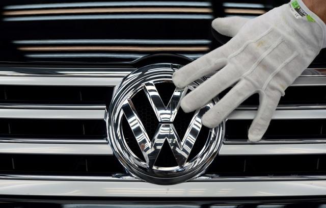 Na ilustračnej snímke logo VW