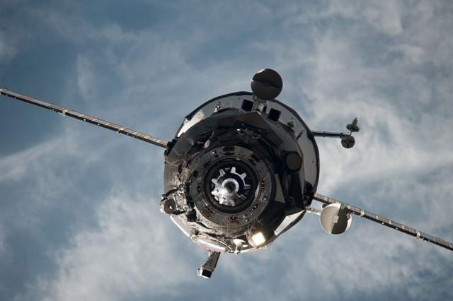 Na ilustračnej snímke ruská nákladná vesmírna loď Progress M-27M