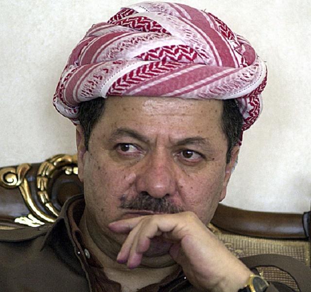 Na snímke prezident kurdského regiónu Masúd Barzání