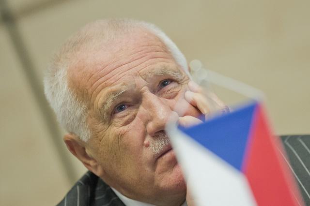 Na snímke český exprezident Václav Klaus