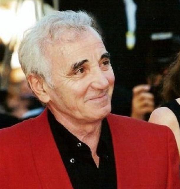 Na snímke francúzsky spevák, skladateľ a herec Charles Aznavour