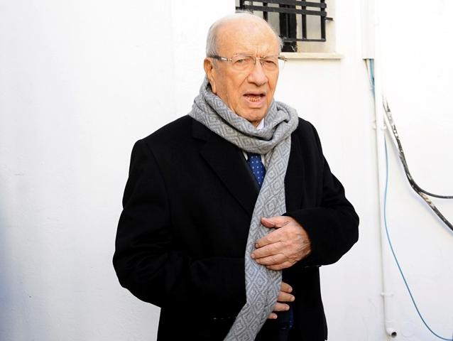Na snímke tuniský prezident Bádží Káid Sabsí