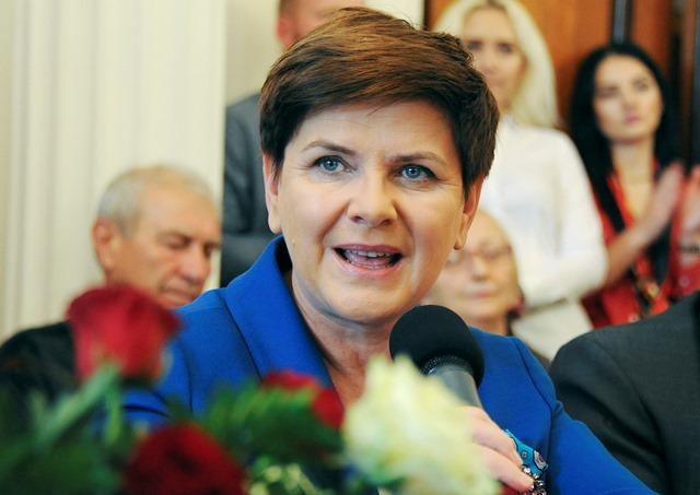 Na snímke nová poľská premiérka Beata Szydlová
