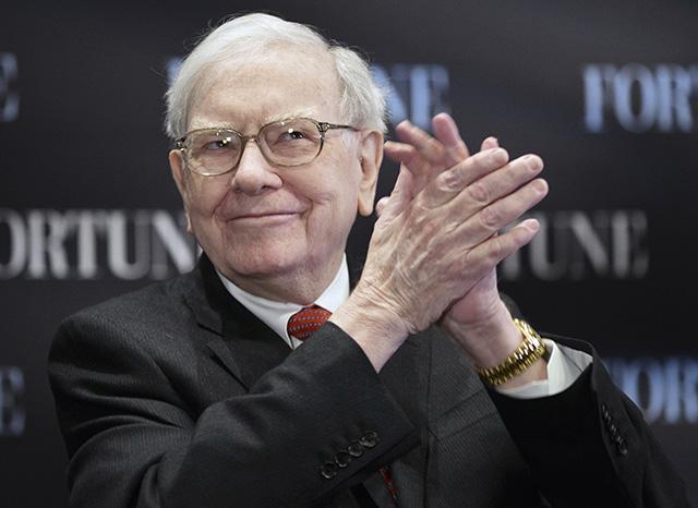 Na snímke  americký investor Warren Buffett
