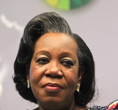 Na snímke prezidentka Stredoafrickej republiky Catherine Sambová-Panzová