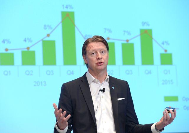 Na snímke výkonný riaditeľ švédskeho výrobcu telekomunikačných zariadení Ericsson Hans Vestberg