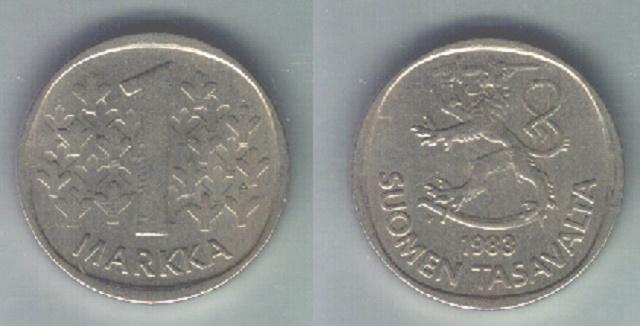 Na snímke bývalá minca fínskej marky. Vráti sa k nej Fínsko?