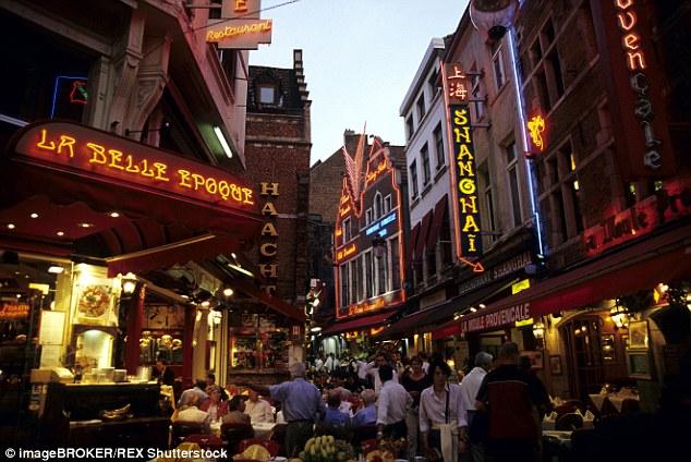 Bruselská štvrť, v ktorej sa nachádzajú bary a kluby pre gayov
