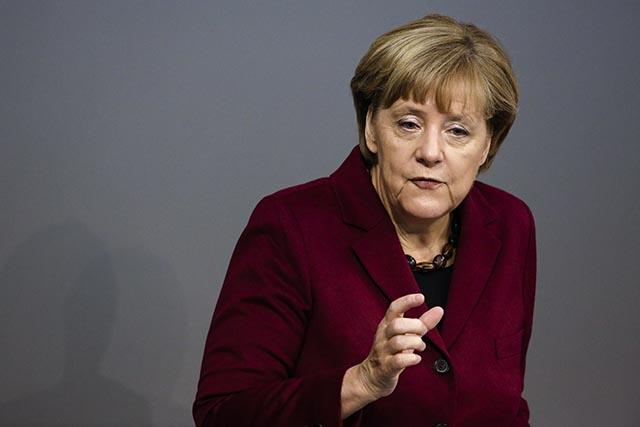 Na snímke nemecká kancelárka Angela Merkelová.