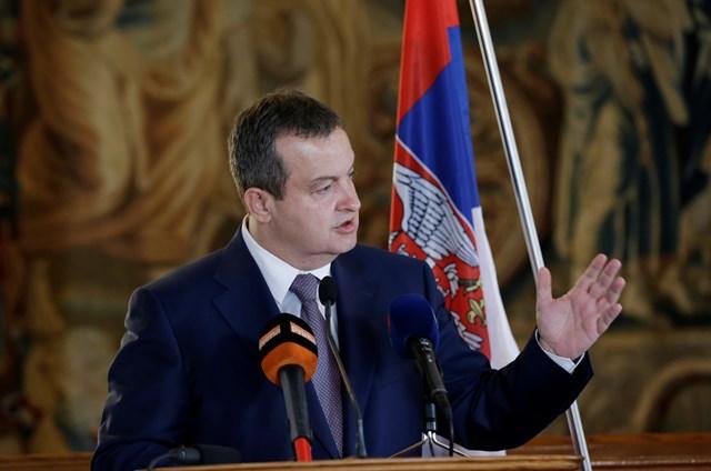 Na snímke srbský minister zahraničných vecí Ivica Dačič