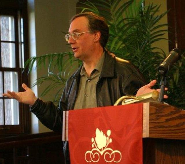 Na snímke Juan Cole počas svojej prednášky na univerzite v MIchigane