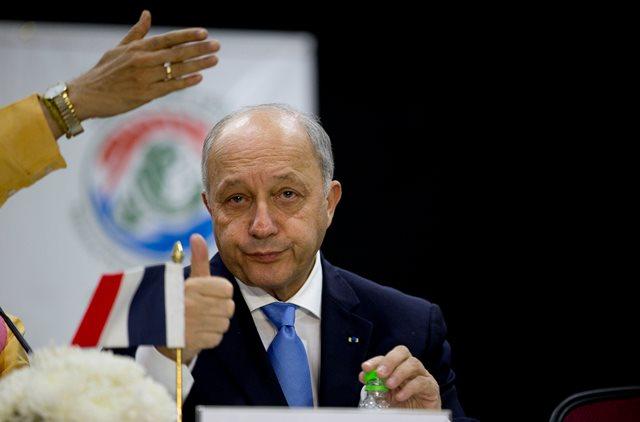 Na snímke francúzsky minister zahraničných vecí Laurent Fabius