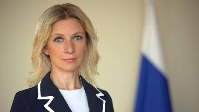 Na snímke hovorkyňa ruského ministerstva zahraničných vecí Marija Zacharovová