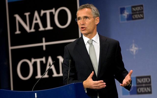 Na snímke generálny tajomník NATO Jens Stoltenberge