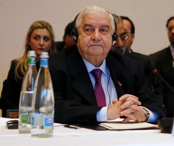 Na snímke Sýrsky minister zahraničných vecí Walíd Mualim